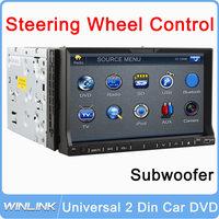 "2014 7"" Car DVD Player 2DIN Universal Car Stereo Radio Video Player FM USB/SD Universal Interchangeable Player Bluetooth/TV/Ipod"