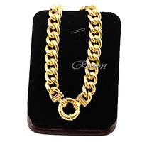 1pcs 10mm Wide Men Women Boys 18K Yellow Gold Filled Link Curb Chain Bracelets E230