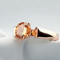 Min.order is $15 Wholesale/top quality nice design/gift/ Classic luxury/Austria champagne crystal gold plated ring for women