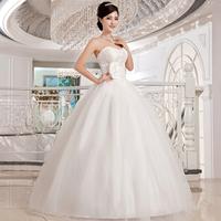 Love wedding dress 2014 new Korean version Slim Bra wedding lace elegant straps Princess wedding dress