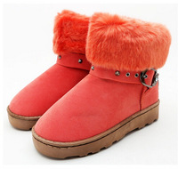 Thick plush snow boots women / ladies warm shoes / cotton boots / winter boots / free shipping