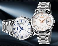 Free Shipping Men Full Steel Watches 2014 New Business Creativity Waterproof Quartz Casual Analog Relogio Wristwatches ML0569