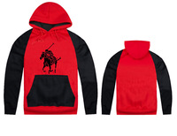 2014 fashion polo hoodies autumn winter sport brand men's clothing hoodie cotton fleece long-sleeve hooded hip hop sweatshirt