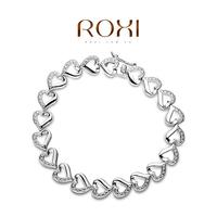 ROXI 2014 Women Bracelet Pulseiras platinum Jewelry Bangles High Quality Gift 140 Free Shipping