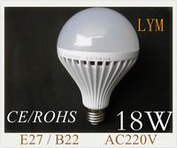 18W E27 b22  Epistar 30pcs smd5630 nature white/ warm white 220V led bulb lamp led bulbs