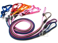 Nice Pet Braided Nylon Rope Dog harness with heavy duty Leash set 4colors XS-L