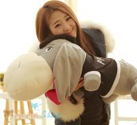 New Cute Stuffed Animal Doll 31'' 80cm Plush Donkey Soft Toy Good Quality Hold Pillow Birthday Christmas Gift Free Shipping