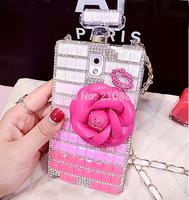 TPU phone covers case sausung galaxy note3 N9008 N9000 N9005,Brand Perfume Bottle leather lip flower,bling rhinestone crystal