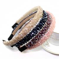 4 pcs/lot fashion 4 row 15mm width crystal headbands for women hair accessories luxurious rhinestone hairband for girls jewelry