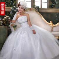 Love 2014 spring new diamond flower wedding dress Korean version new bride wedding sweet princess wedding