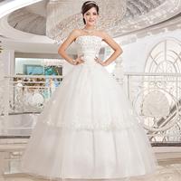 Love wedding dress 2014 new Korean flower Bra wedding mopping the floor straps lace princess wedding dress