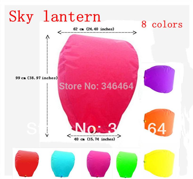 30 Pcs Hot Sale 8 Colors paper SKY LANTERNS Flying Paper Sky lanterns Good quality Wedding Oval Sky lantern Wishing Lamp(China (Mainland))