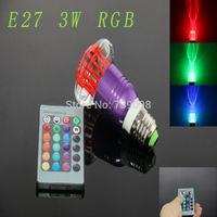 E27 3w RGB Crystal LED Light Purple Mushroom-shaped Bulb With IR Remote Controller (85V-265V)