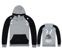 new Men's autumn or winter Hooded fleece Plus velvet Pullover sportswear Varsity hoodies YEEZY 77 sweatshirt good quality