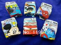 boys children underwear boxer shorts fit 3-10yrs kids baby cartoon panties clothing 12pcs/lot more style free shipping