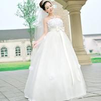 Love wedding petal big bow 2014 new elegant and moving Korean version was thin sweet princess wedding