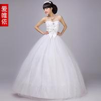 Love wedding dress 2014 new wedding bow sweet princess Bra bride wedding dress
