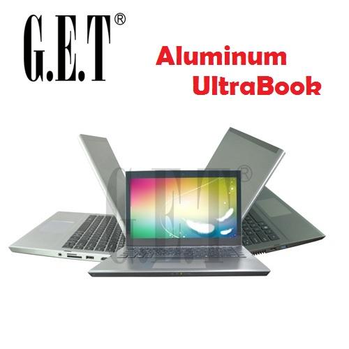 Windows 8 touch screen 13.3 inch Aluminum laptop computer Intel Baytrail quad core J1900 2GHz 4GB RAM 320GB HDD(China (Mainland))