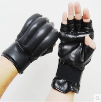 Adult male and female half-finger gloves Boxing Fight Muay Thai martial arts fitness training sandbag Sanda Sports Safety