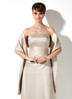 Custom Made Satin Special Occasion Shawl AL6606