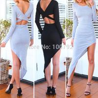 Celebrity Bandage Cotton Evening Long Dresses Summer New 2014 Vintage Geometric   Party Women's  Asymmetrical Draped Maxi Dress