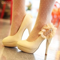GHOIST FREE SHIPPING D5614 high heel shoes quality dress ladies fashion lady pumps women's sexy heels wedding shoe size 34-39