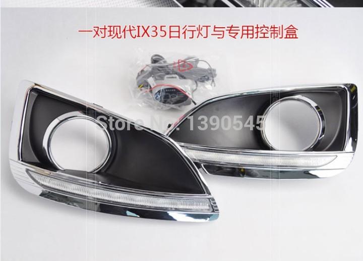 Дневные ходовые огни Hyundai ! IX35 2010 2pcs /set + , 15W 12V, 6000K, дневные ходовые огни hyundai 2pcs set 15w 12v 6000k