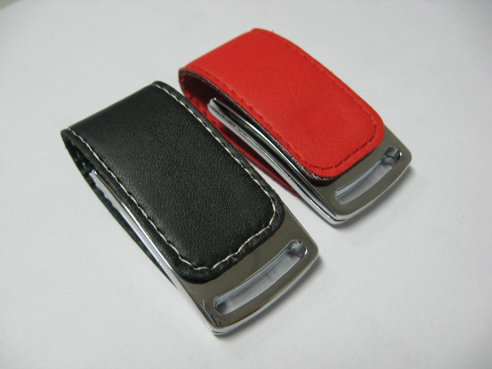 Full Capacity white / black / brown leather USB usb flash drive Memory Stick Flash Pen Drive, 4GB 8GB 16GB 32GB 64GB(China (Mainland))