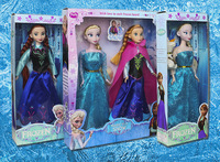 Hot Sell Frozen Princess  Frozen Doll Frozen Elsa and Frozen Anna Good Girl Gifts toy Doll Joint Moveable