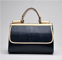 Hot selling 2014 Europestyle women zipper leather serpentine luxury tote shoulder satchel bags bolsas de franjas de mulheres 9