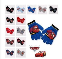 10pair/lot Promotions!! Wholesale Cartoon Car glove Children's Kid's Boy's winter gloves free size  FKG118.2
