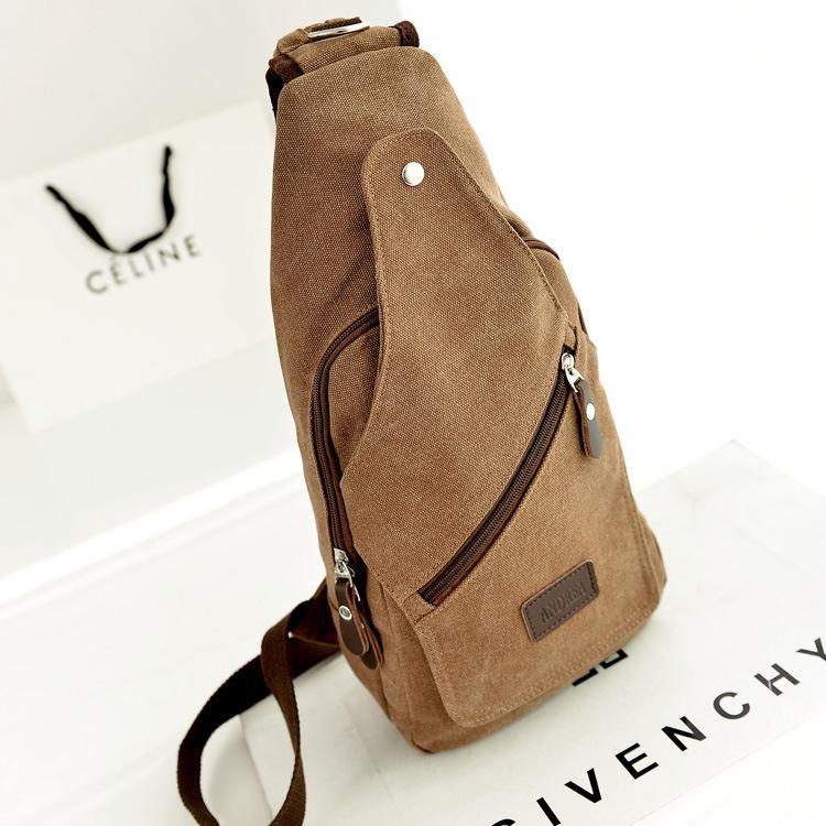New 2014 vintage men canvas messenger bag shoulder bags men portable sling bag chest pack for