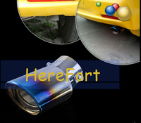 Steel Stailness Universal STAINLESS STAINLESS STEEL EXHAUST TAIL REAR MUFFLER TIP PIPE styleB for HONDA 2007-2011