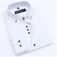 New 2014 Men'S Long Sleeve Brand Dress Shirts Commercial Shirts Casual Cotton Multicolor Tuxedo Shirt Men'S Shirt XG50-223