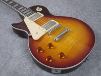 Lefty Guitar,  Left Handed Electric Guitar, LP Tobacco Burst