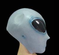 Free Shipping Big Eye Realistic UFO Soft Alien Head Halloween Mask Latex Creepy Costume Party Cosplay