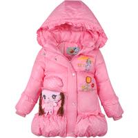 Mitch 2014 child down coat medium-long female child down coat female children winter