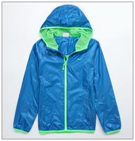Demix child sportswear big boy sports outerwear blue green sports jacket 128-185cm boy hooded wind breaker travel sport clothes