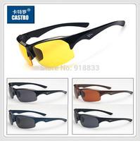 2014Classic Semi-rimless Night Glasses Men's Cycling Sports UV400 Sunglasses Male Windproof Driving Sunglasses Man Mirror Goggle