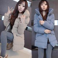2014 women Big size winter thicken warm cotton padded jacket coat female medium-long large size outwear coat 802#