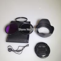6in1 58MM UV CPL FLD Filter Kit + Flower Lens Hood +Lens Cap+ Lens cap keeper holder for C N DSLR EOS 400D 550D 500D 600D 1100D