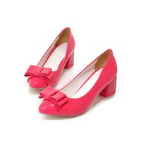 Sweet and sexy casual shoes woman fashion PU popular styles pumps well-designed and comfortable shoes for women