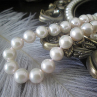 Top Qaulity Fashion Necklace for Women Perfectly Round White 8-9MM Natural Freshwater Pearl Necklace Free Shipping