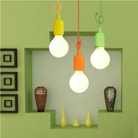 e26 e27 silicone lamp base kitchen pendant light lampholder/110V 220V,cable length 1 meter,Free Shipping