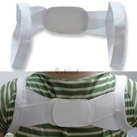 V1NF Adjustable Therapy Back Support Brace Band Posture Shoulder Corrector XXL