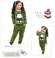 Monkey Spring Autumn children's clothing wholesale children baby boys and girls Casual two-piece suit kids set