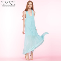 SMSS Europe and the dress sexy slim halter V brought back Chiffon Dress