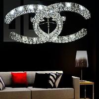 Free shipping hot sale CC design 3 sides crystal modern led ceiling lights for living room