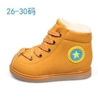 2014 new winter girls boots, boys thick snow boots,kids boots ,children's boots, Christmas gifts retail 1 pair