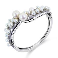 Original design vintage bangle bracelets luxury style pearl fashion zirconia for female